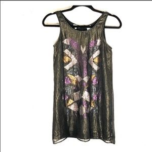 Miss me girls metallic and embellished dress sz. L